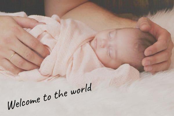 赤ちゃんに贈る言葉を英語で【新生児】