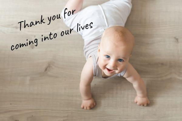 赤ちゃんに贈る言葉を英語で【感謝を伝える編】