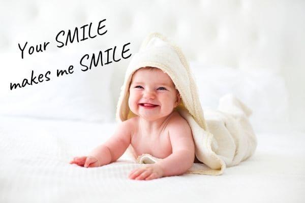 赤ちゃんに贈る言葉を英語で【笑顔編】