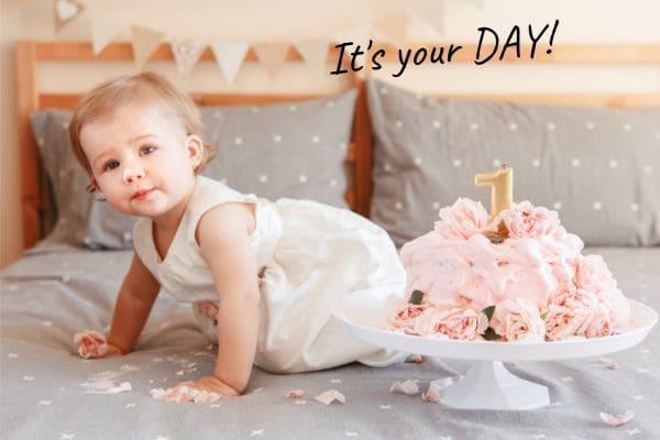 赤ちゃんに贈る言葉を英語で【1歳の誕生日】