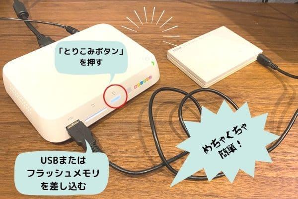 おもいでばこの使い方(USBやフラッシュメモリの場合)